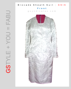 GSIA Brocade Sheath Suit