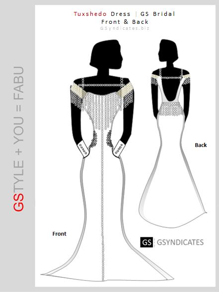 GS Bridal Tuxshedo Dress