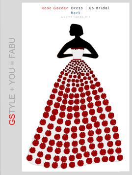 GS Bridal - Rose Garden Gown (Back)